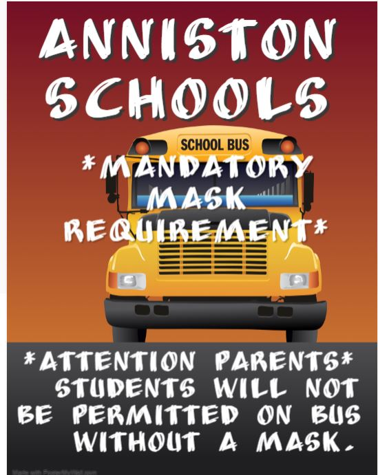 Attention: Masks are Mandatory on Buses/Schools