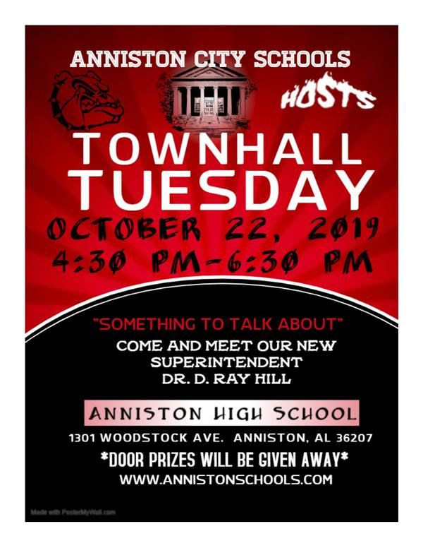 Anniston City Schools Town Hall Tuesday
