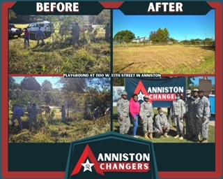 Anniston Changers' First Community Cleanup Day